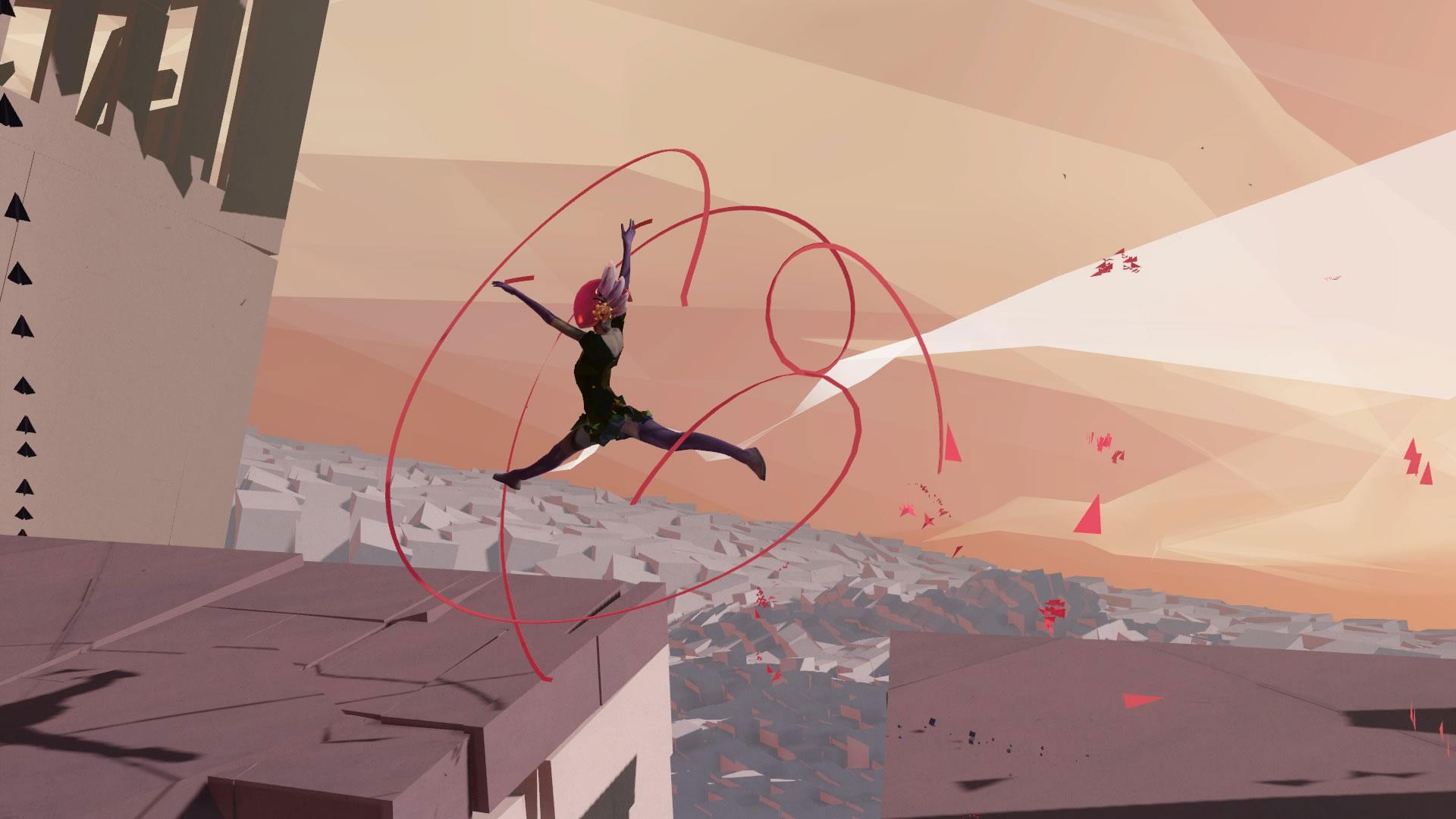 """Verkopft, kunstvoll und ganz schön Indie: """"Bound"""" als vorbildliches Beispiel, wie Spiele mit Third-Person-Perspektive auch in VR funktionieren können."""