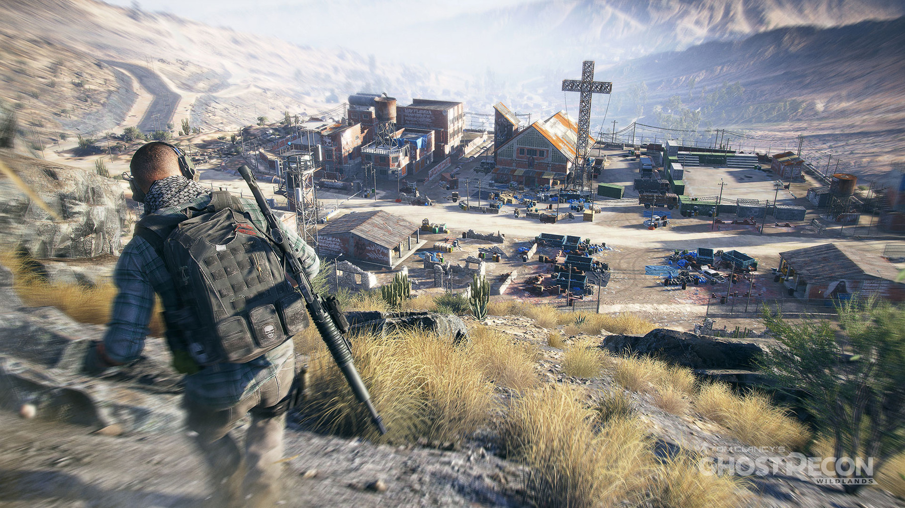 """Tom Clancy's Ghost Recon: Wildlands: Der Render- und Gameplay-Trailer zeigte eine ebenso detaillierte wie riesige Spielwelt, in der mehrere Spieler im Koop auf Gangster- und Drogenjagd waren, """"Wildlands"""" kann aber auch alleine gespielt werden."""