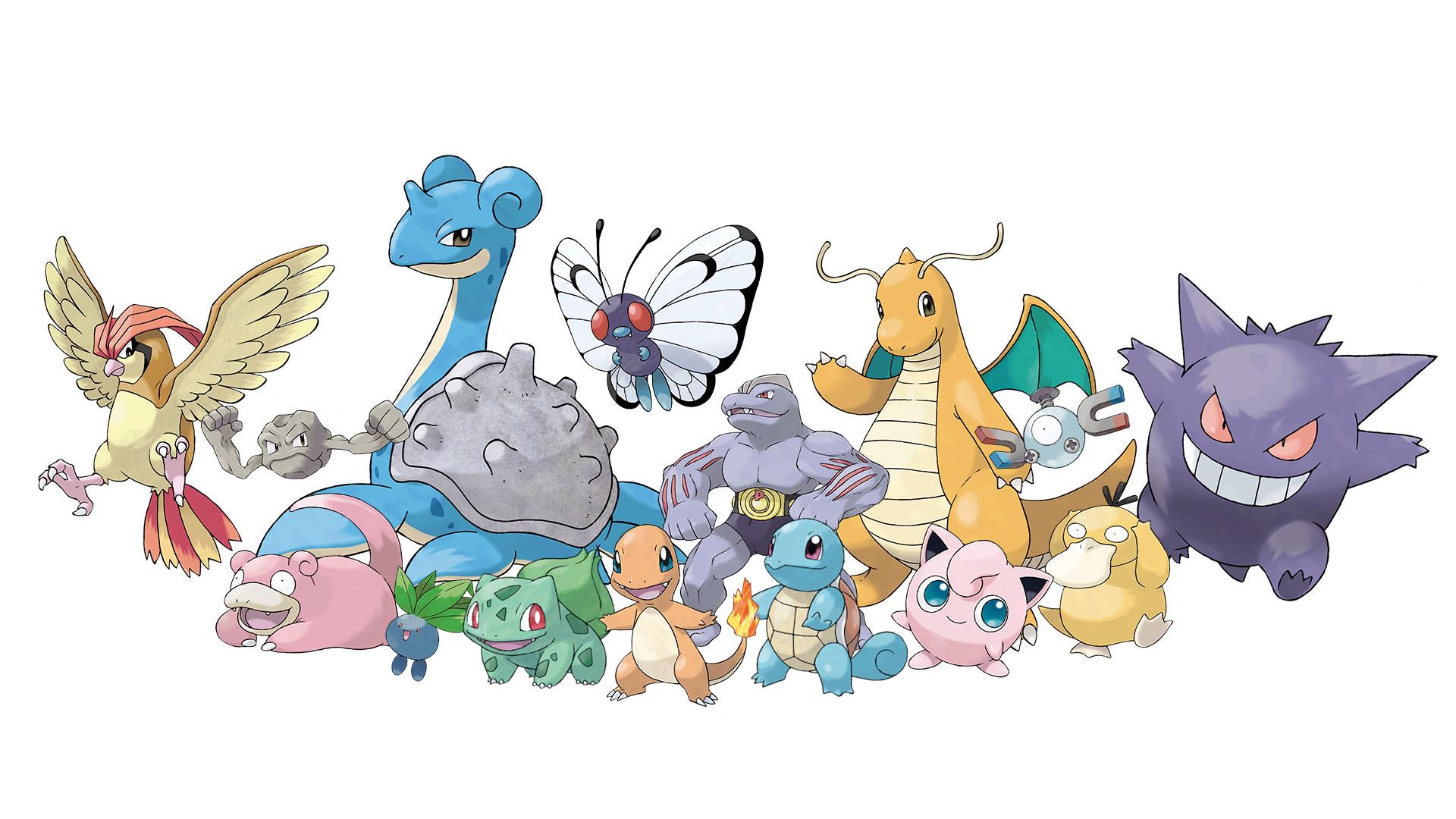 """Sind in """"Let's Go, Pikachu!"""" und """"Let's Go, Evoli!"""" alle wieder mit von der Partie: die 151 originalen """"Pokemon"""" aus den allerersten Spielen von 1996."""