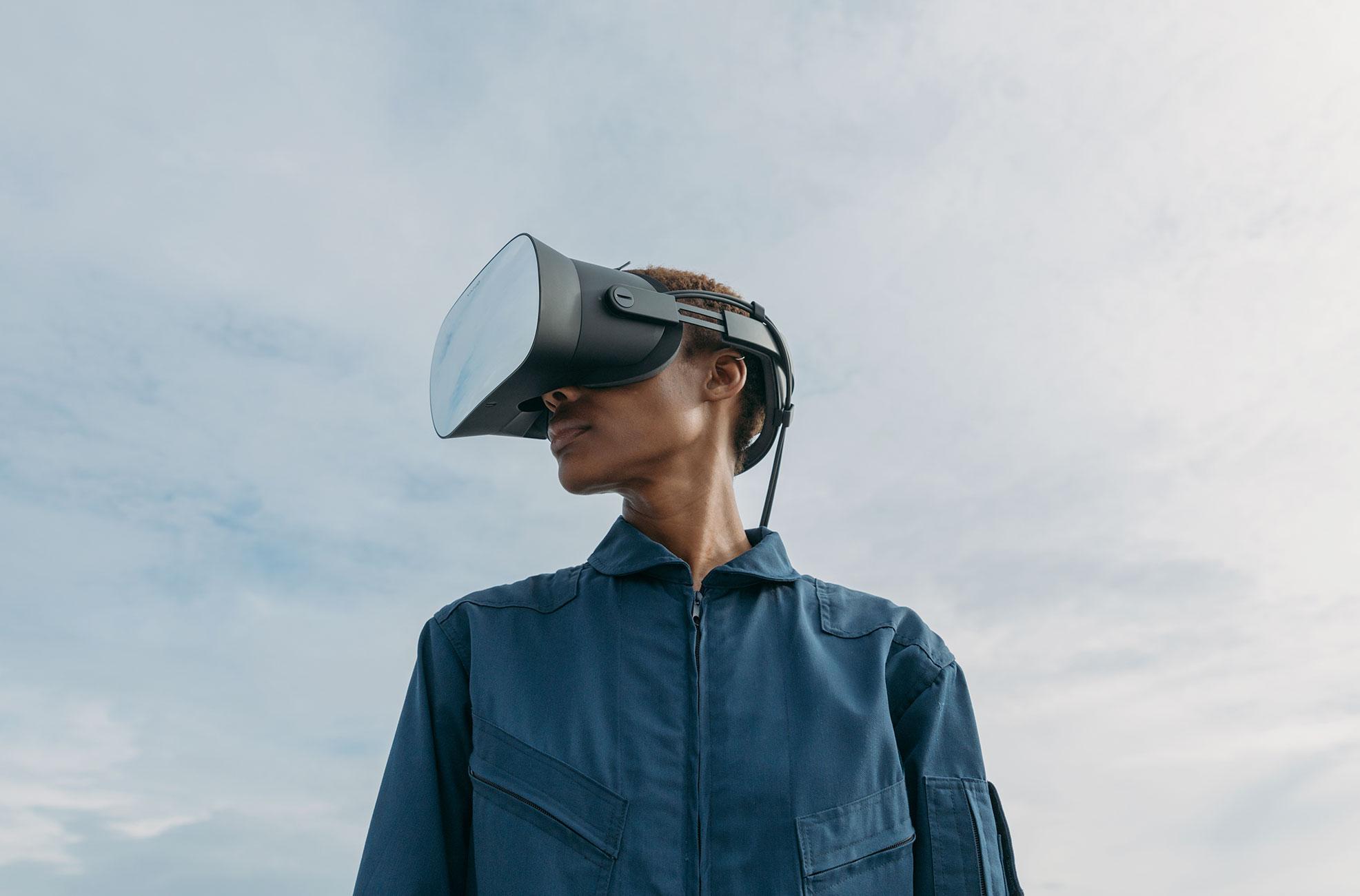 """Gibt sich einen futuristischen Anstrich: das 6.000 teure Profi- und Edel-Headset """"VR-1"""" von Varjo Technologies."""