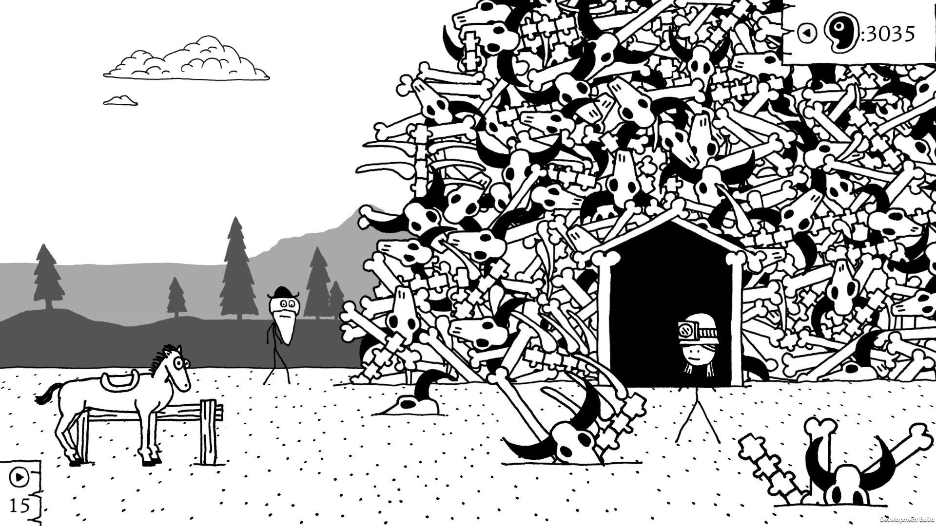 """Strich für Strich ein waschechter Western: Das Strichmännchen-Rollenspiel """"West of Loathing"""" gibt's zwar schon für PC und Mobile-Geräte - aber Konsolen-seitig soll es exklusiv für die Switch erscheinen."""