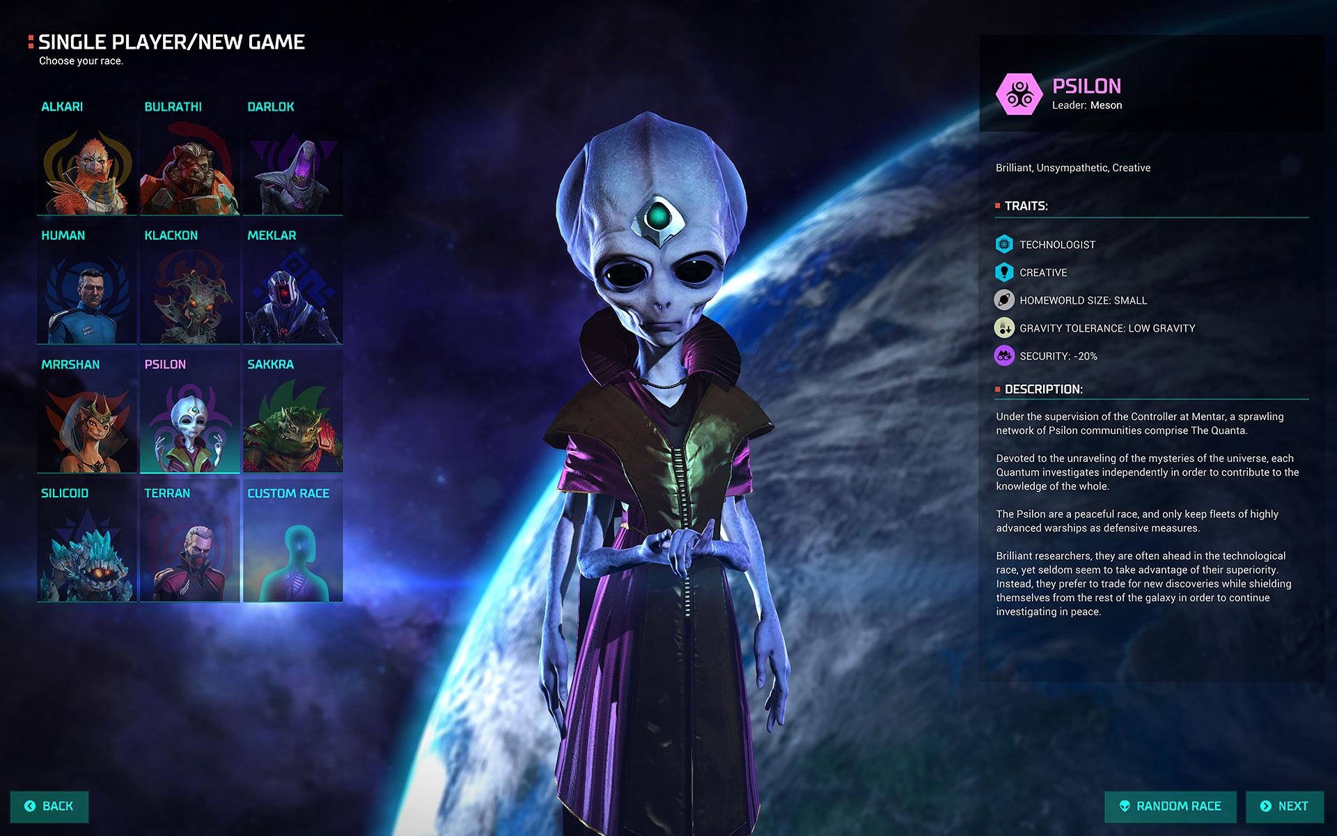 """In """"Master of Orion"""" werden alle gängigen Alien-Klischees bedient - von """"Perry Rhodan"""" und """"Flash Gordon"""" bis hin zu den Großkopf-Greys aus """"Akte X"""". Die heißen hier """"Psilone"""" und sind - der Name verrät's - übersinnlich talentiert."""