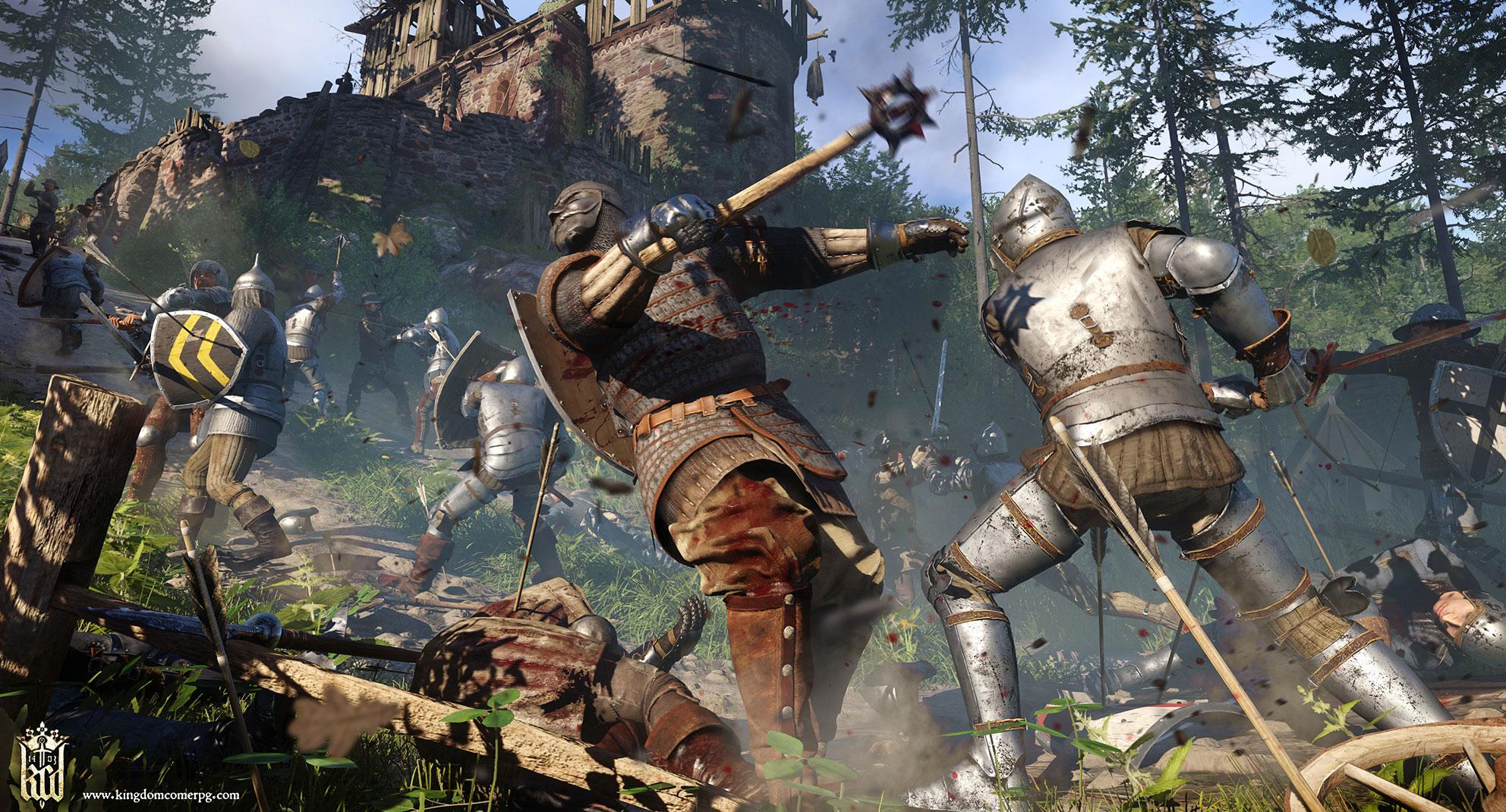"""Immer feste: """"Kingdom Come"""" setzt auch im Kampf auf Härte und Anspruch - realistischer als in anderen Rollenspielen sind die Gefechte aber nicht... nur komplizierter."""