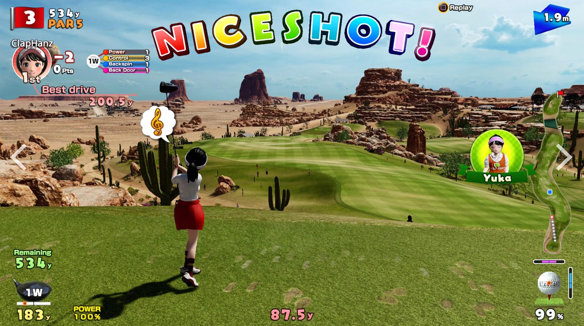 """Abschlag im ersten Quartal 2019: """"Everybody's Golf"""" für PlayStation VR."""