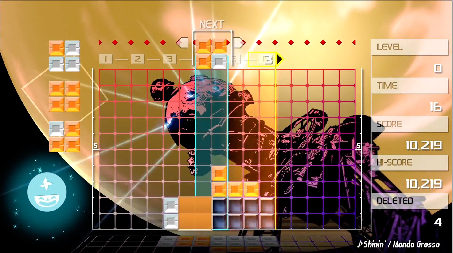 """Eine Knobel-Legende als visuell aufgemotztes Switch-Spiel: """"Lumines"""" von Q Entertainment."""