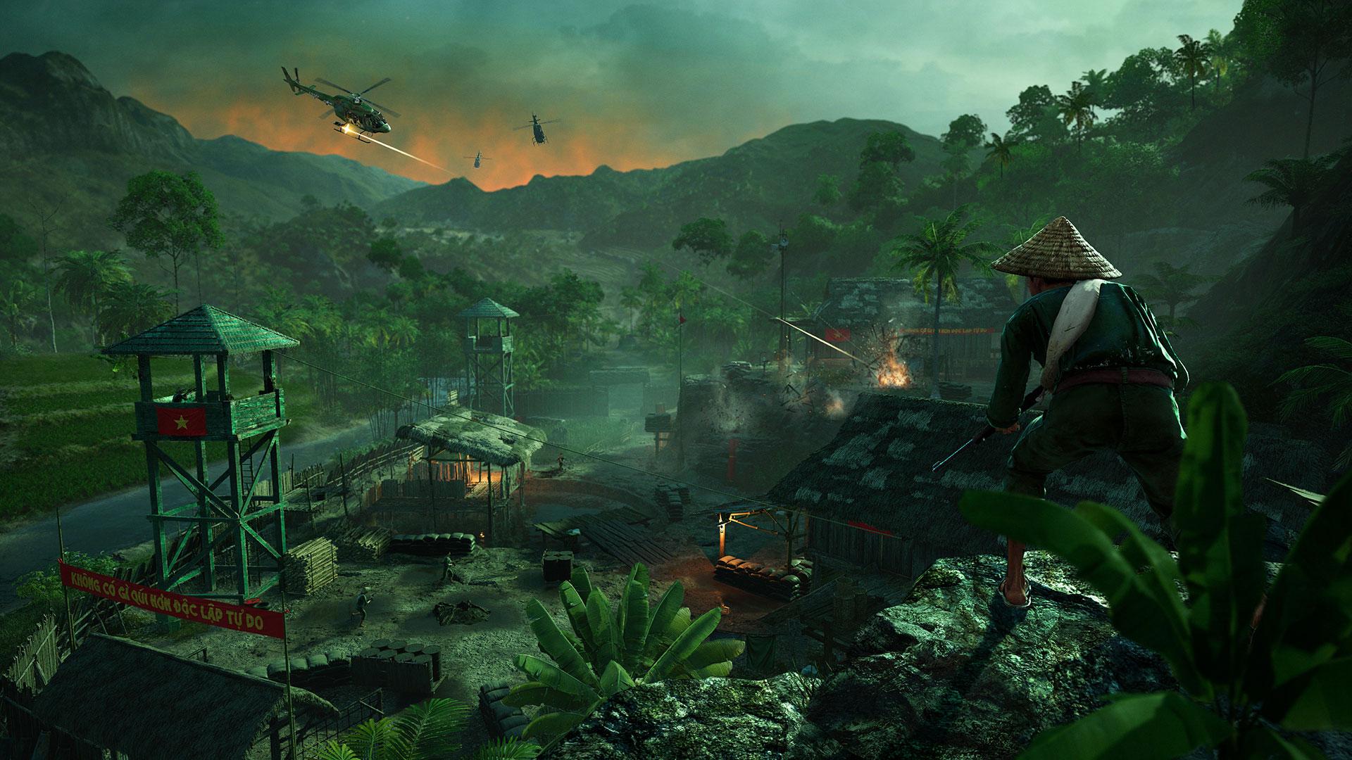 """Das erste Add-On """"Hours of Darkness"""" versetzte den Spieler nach Vietnam. Leider stieß die Erweiterung wegen ihres geringen Umfangs von rund drei Spielstunden auf wenig Gegenliebe."""