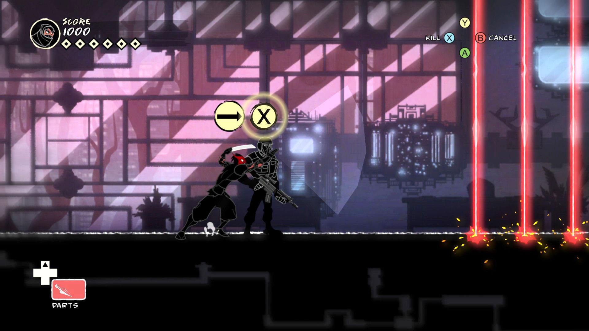 """Mit dem horizontal scrollenden Stealth-Abenteuer """"Mark of the Ninja"""" kommt auch ein echter Indie-Klassiker auf die Nintendo-Konsole."""