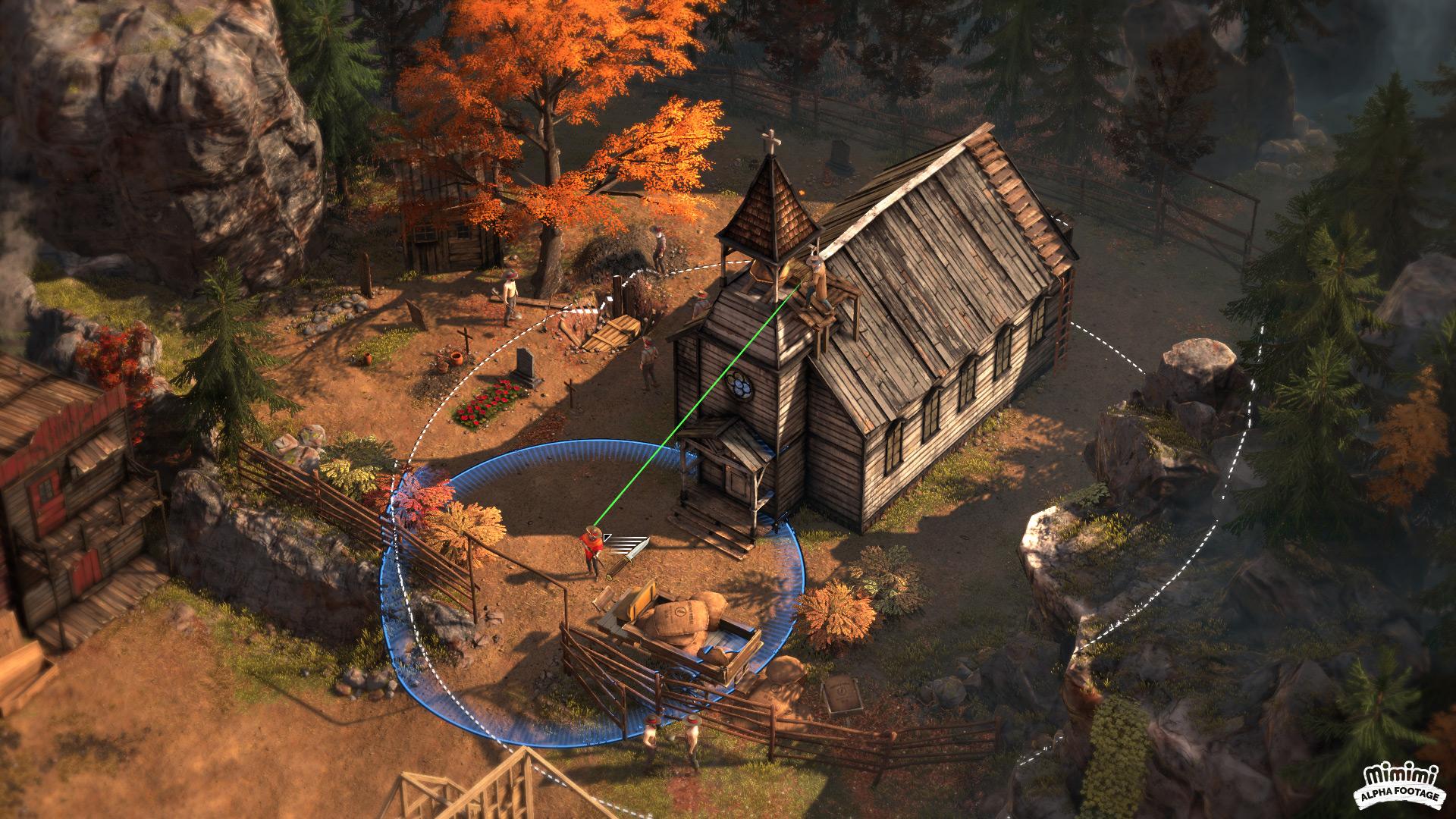 """Anders als bei """"Shadow Tactics: Blades of the Shogun"""" wird in """"Desperados 3"""" nicht Runde für Runde, sondern in Echtzeit gezogen."""