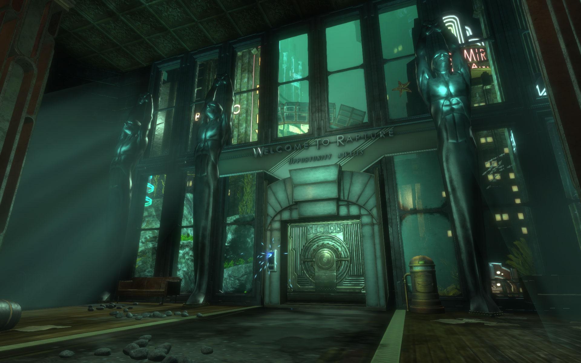 """Mit der """"Bioshock""""-Collection bringt 2K gleich drei moderne Action-Klassiker in aufgehübschter Fassung auf aktuelle Konsolen. Ebenfalls mit an Bord: Alle Zusatzinhalte der Orignal-Versionen. • ab 16.09. für PS4, Xbox One"""