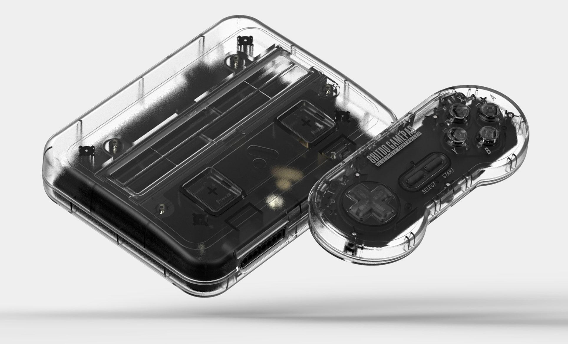 Eine Version ist dem europäischen SNES nachempfunden, eine andere ähnelt dem US-SNES, eine weitere kommt in schlichtem Schwarz. Besonders stilvoll: die transparente Fassung.