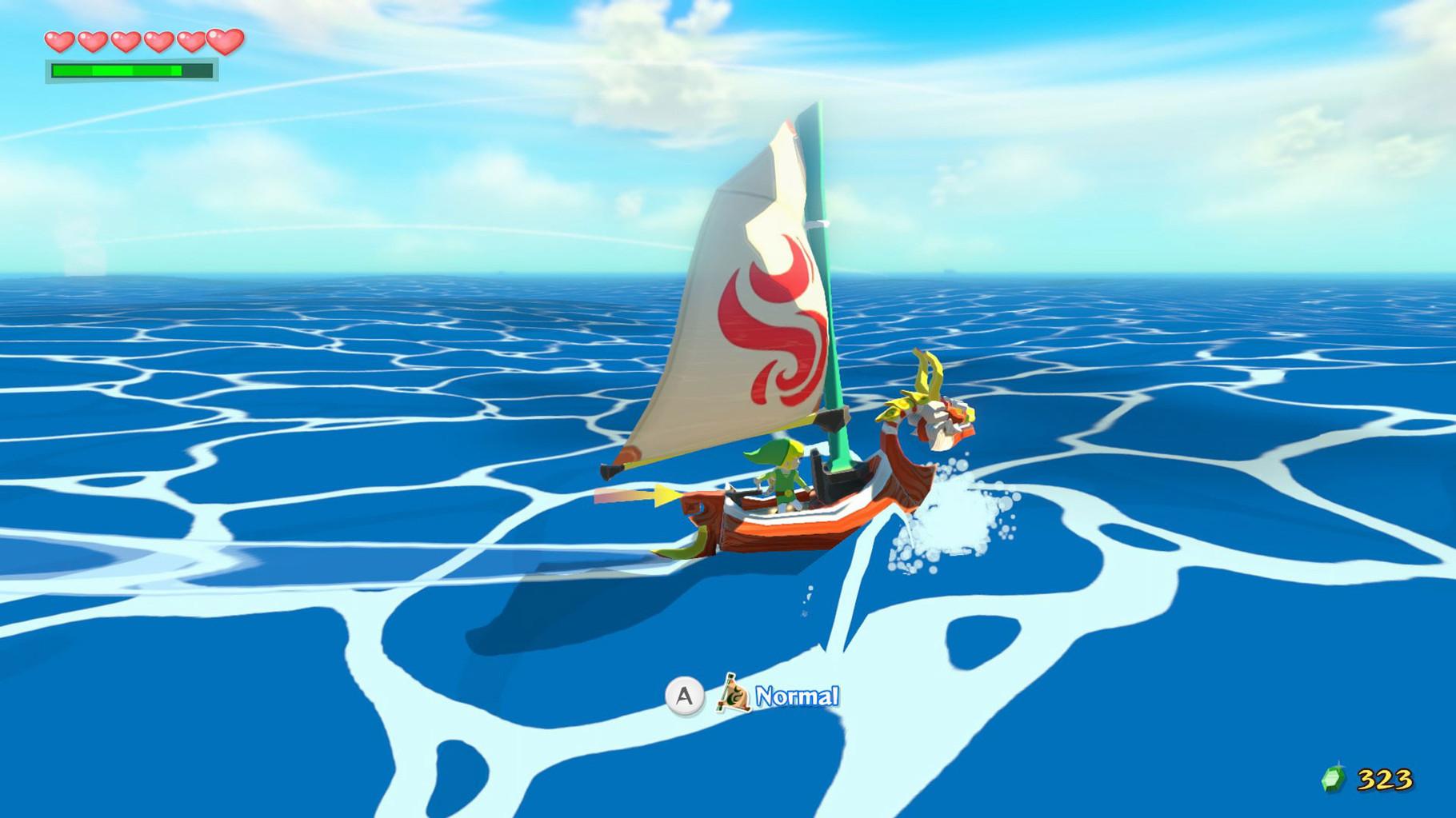 """Sieht nicht so aus, ist aber tatsächlich ein postapokalyptisches Abenteuer: """"Zelda: Wind Waker"""" spielt in einer """"Water World""""-ähnlichen Ozean-'Wüste'. Die Götter haben die Spielwelt geflutet, um ein unbesiegbares Übel aufzuhalten."""