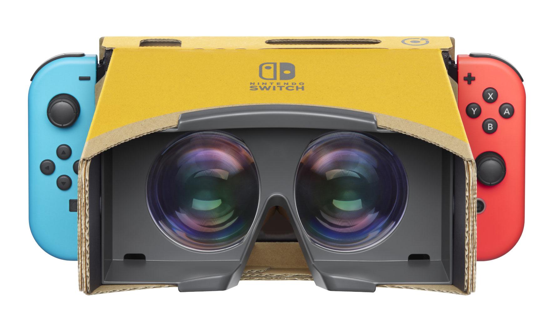 Für den VR-Genuss auf der Switch wird die Konsole in ein Cardboard-ähnliches Labo-Modell gesteckt.