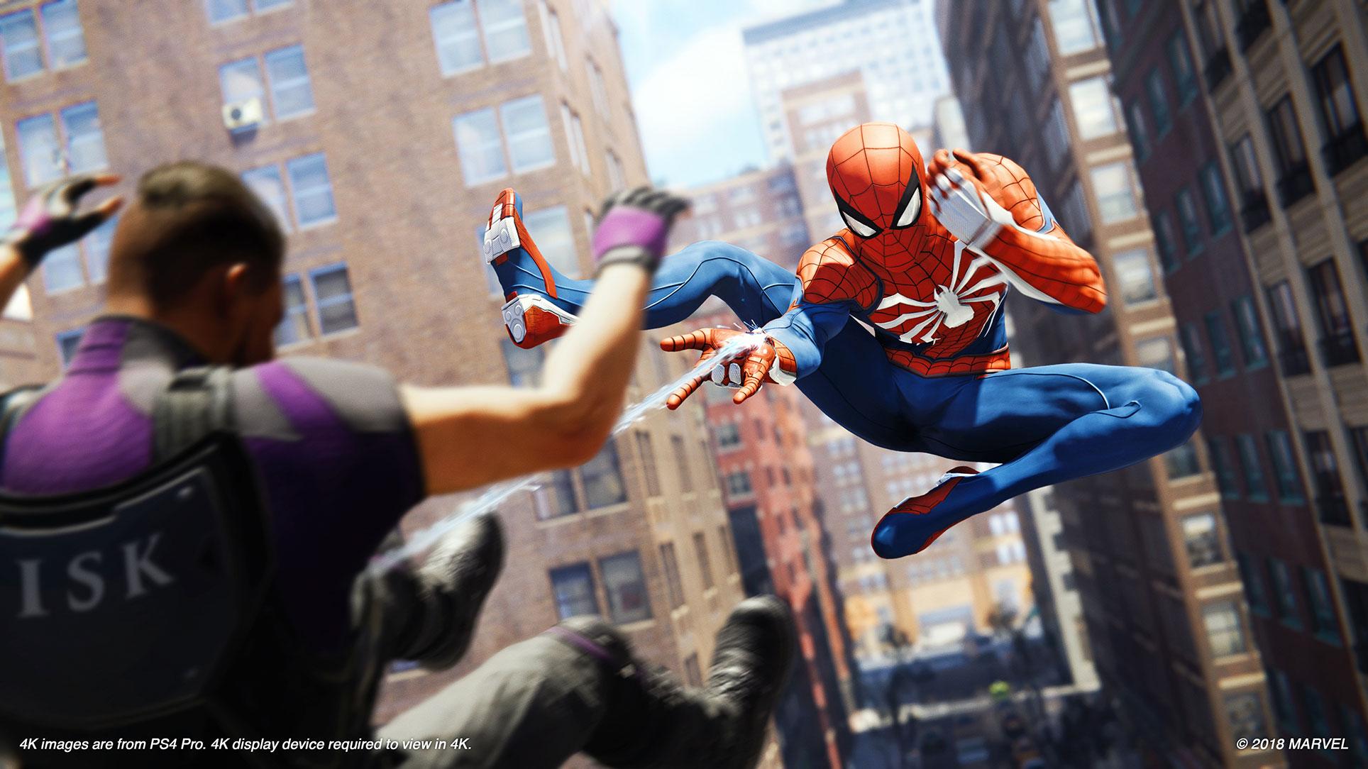 Der größte Grafik-Pluspunkt des Abenteuers: Spider-Mans geschmeidige Animationen