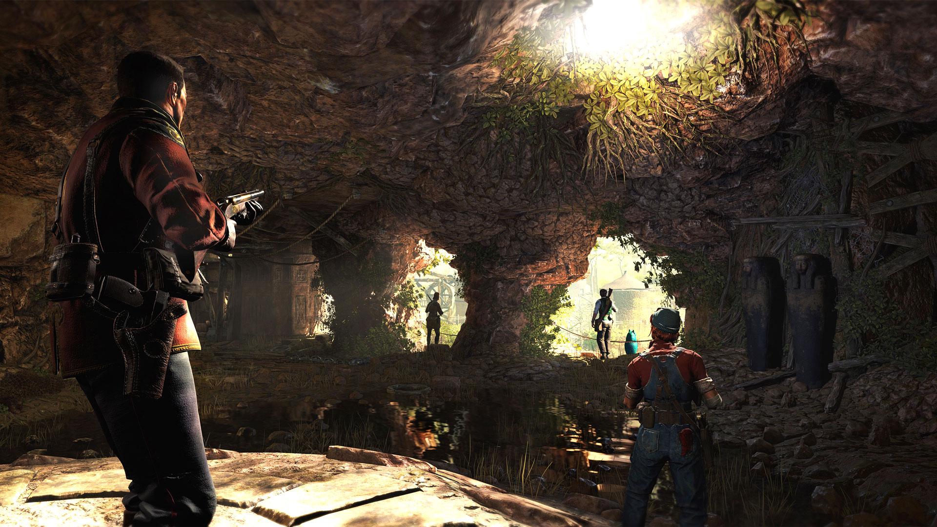 """Wie """"Sniper Elite"""" hat Rebellion seinen Squad-Shooter """"Strange Brigade"""" mit der hauseigenen """"Asura""""-Engine entwickelt. Der sieht man das fortgeschrittene Alter hin und wieder an, trotzdem überzeugt die Ballerei mit Detail-gespickter Level-Kosmetik."""