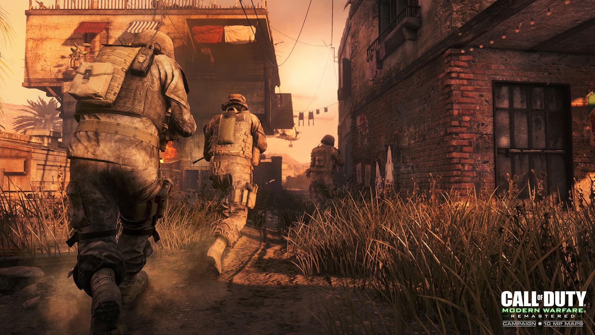 """2007 lässt Activisions Ego-Shooter-Reihe die Weltkriegs-Schlachtfelder hinter sich: Mit """"Modern Warfare"""" beginnt der erfolgreiche Serien-Umzung in die Krisenherde der Gegenwart. 2017 erfährt der moderne Shooter-Klassiker ein Remake."""