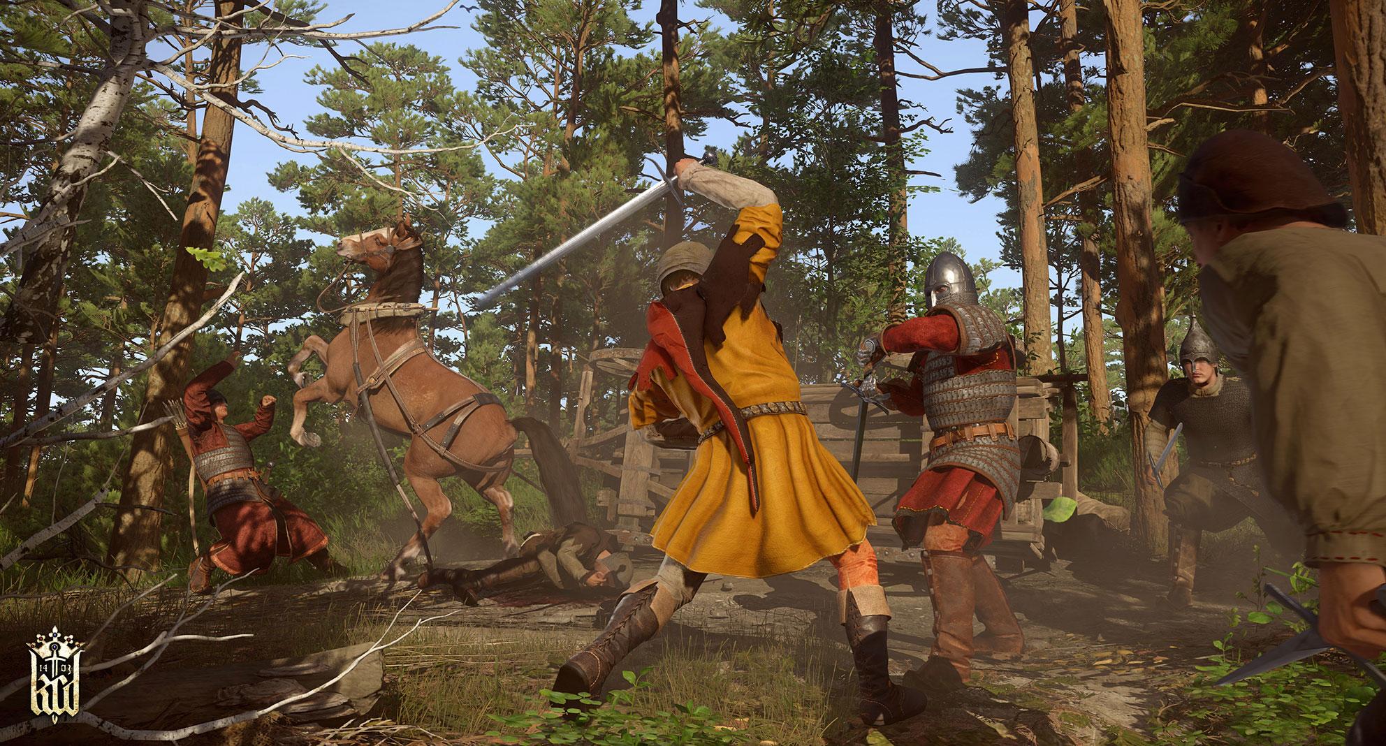 """Briganten, Soldaten und Söldner statt Orks oder Goblins: In """"Kingdom Come: Deliverance"""" gibt es nur menschliche Gegner - und Wildtiere."""