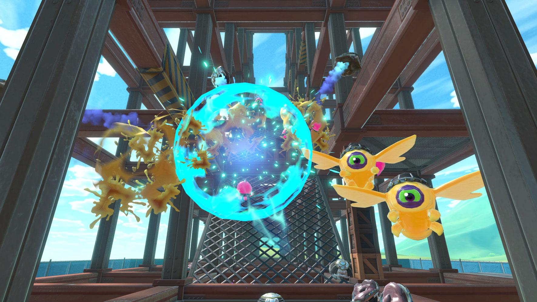 Die beste Spielerfahrung im Labo-VR-Bunde: die Blaster-Ballerei.
