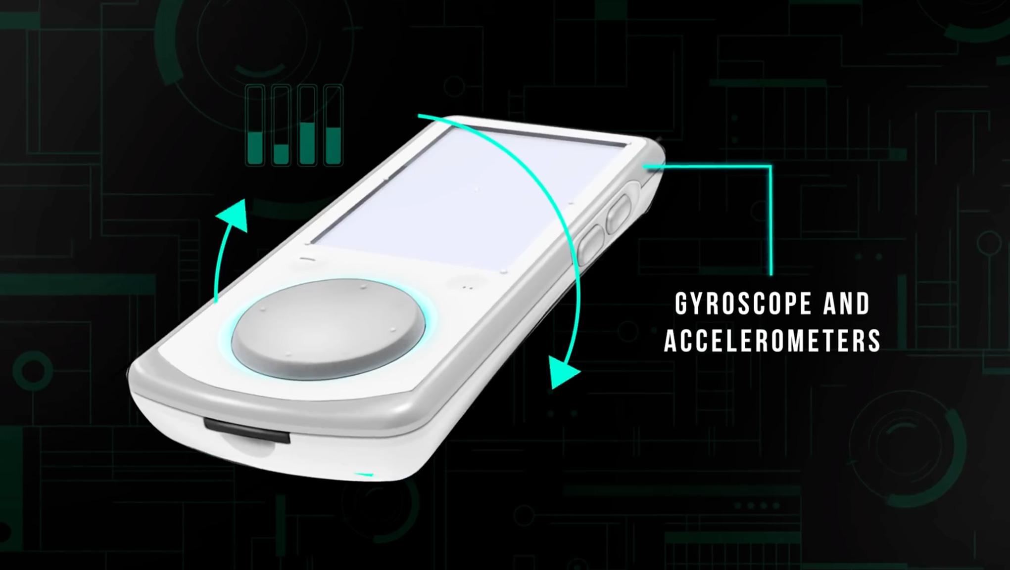 Spielen scheinbar eine wichtige Rolle im Konsolen-Konzept: die mit Analog-Knubbel, Touchscreen, Rumble-Funktion und Bewegungs-Sensitivität ausgestatteten Controller.