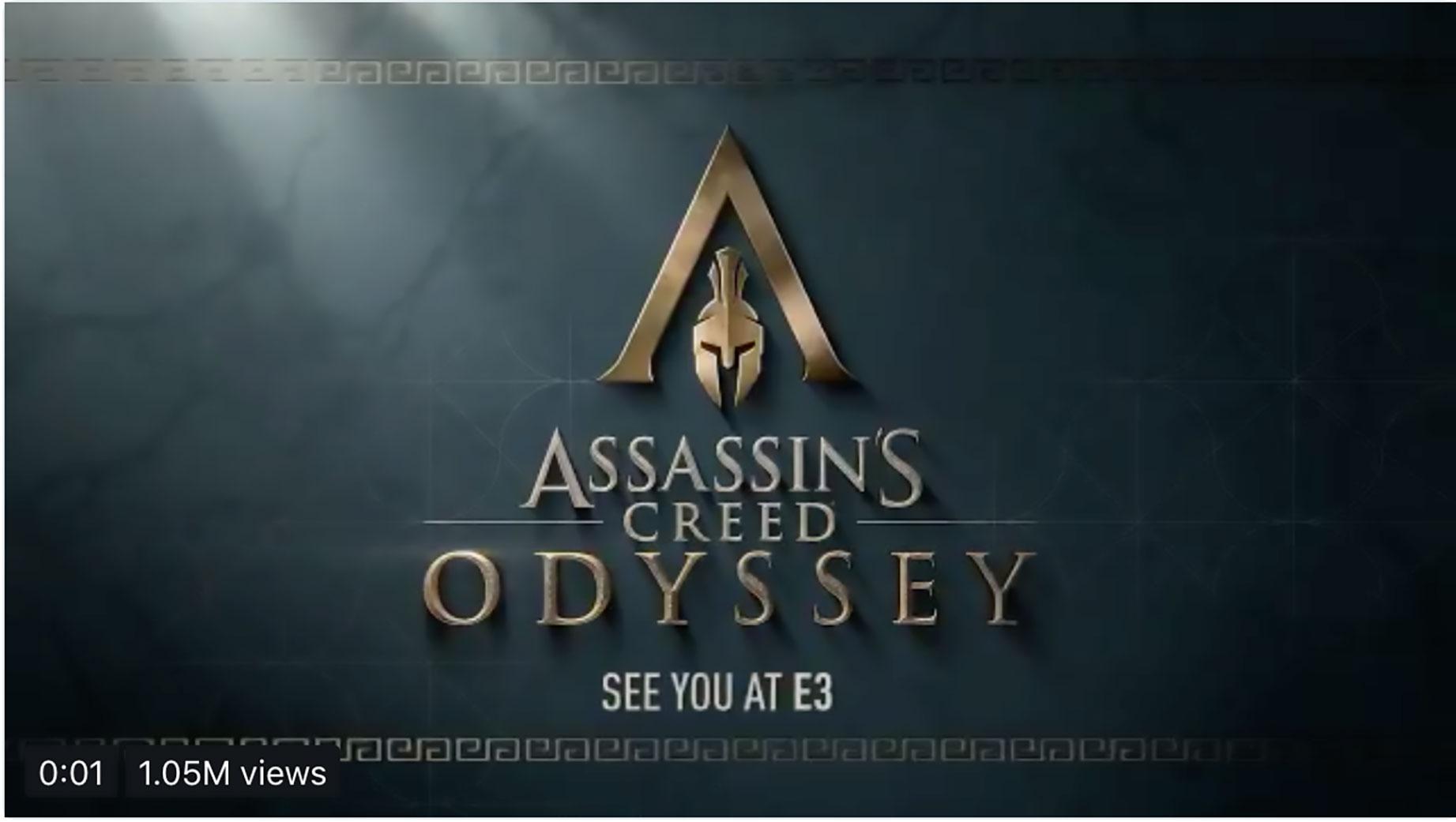 """Die Internet-Gerüchte hatten recht: Ubisoft hat auf Twitter ein im alten Griechenland angesiedeltes """"Assassin's Creed"""" angekündigt. Der passende Untertitel: """"Odyssey"""""""