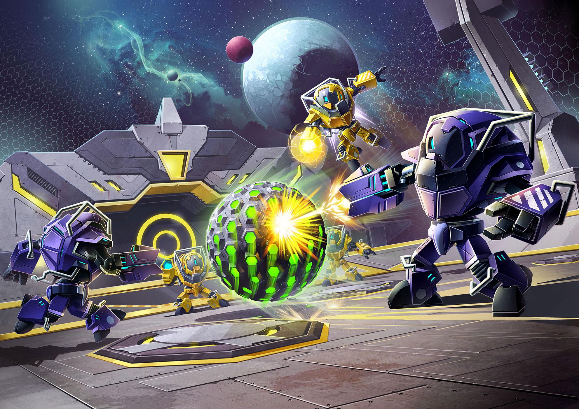 """Mit """"Metroid Prime: Federation Force"""" beschreitet Nintendos Traditions-Serie ungewohnte Wege: Anstelle eines anspruchsvollen Einzelspieler-Adventures gibt's diesmal Multiplayer-Schlachten vier gegen vier • ab 02.09. für 3DS"""