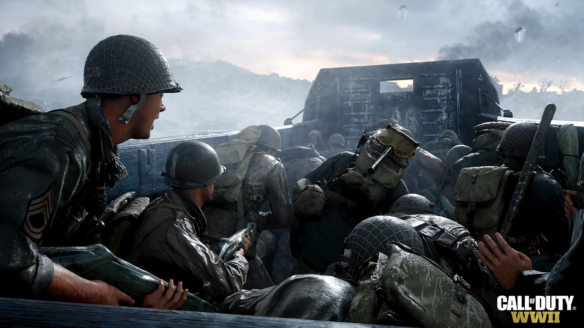 """... in der Veröffentlichung von """"Call of Duty: WW2"""". Der bisher erfolgreichste Serien-Teil folgt dem Motto """"Back to the Roots"""" und ersetzt Roboter wieder gegen Nazis."""