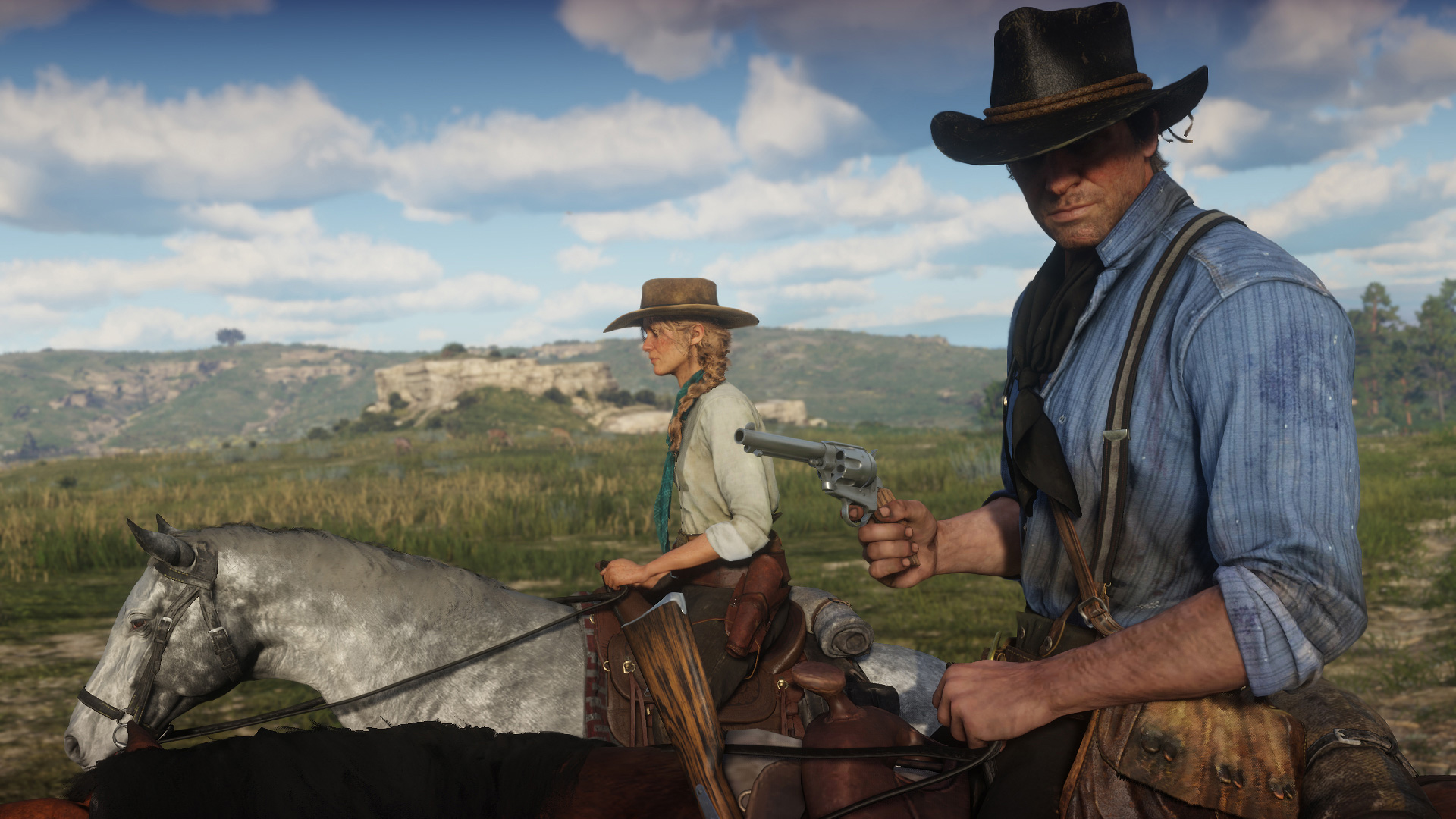"""Wie genau der für November angekündigte Online-Modus von """"Read Dead Redemption 2"""" aussehen wird, ist noch offen. Aber vermutlich werden sich Spieler zu Banden von Gesetzlosen zusammenrotten können."""