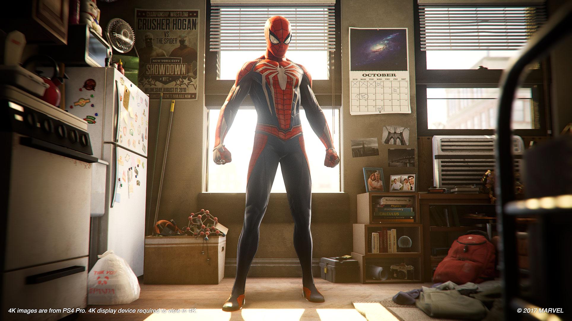 Darf gegen neue Kostüme getauscht und mit Upgrades verbessert werden: die Spinnen-Garderobe