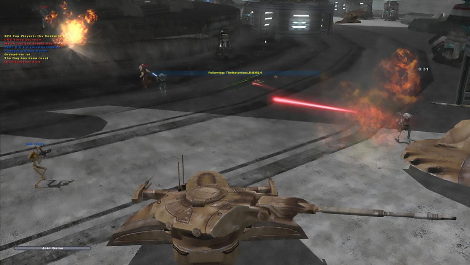 """""""Star Wars Battlefront 2"""" von 2005: Visuell ist der Mehrspieler-Klassiker nur noch schwer erträglich, aber bei seiner Erstveröffentlichung 2005 war er beliebter als die Neuinterpretation von Electronic Arts."""