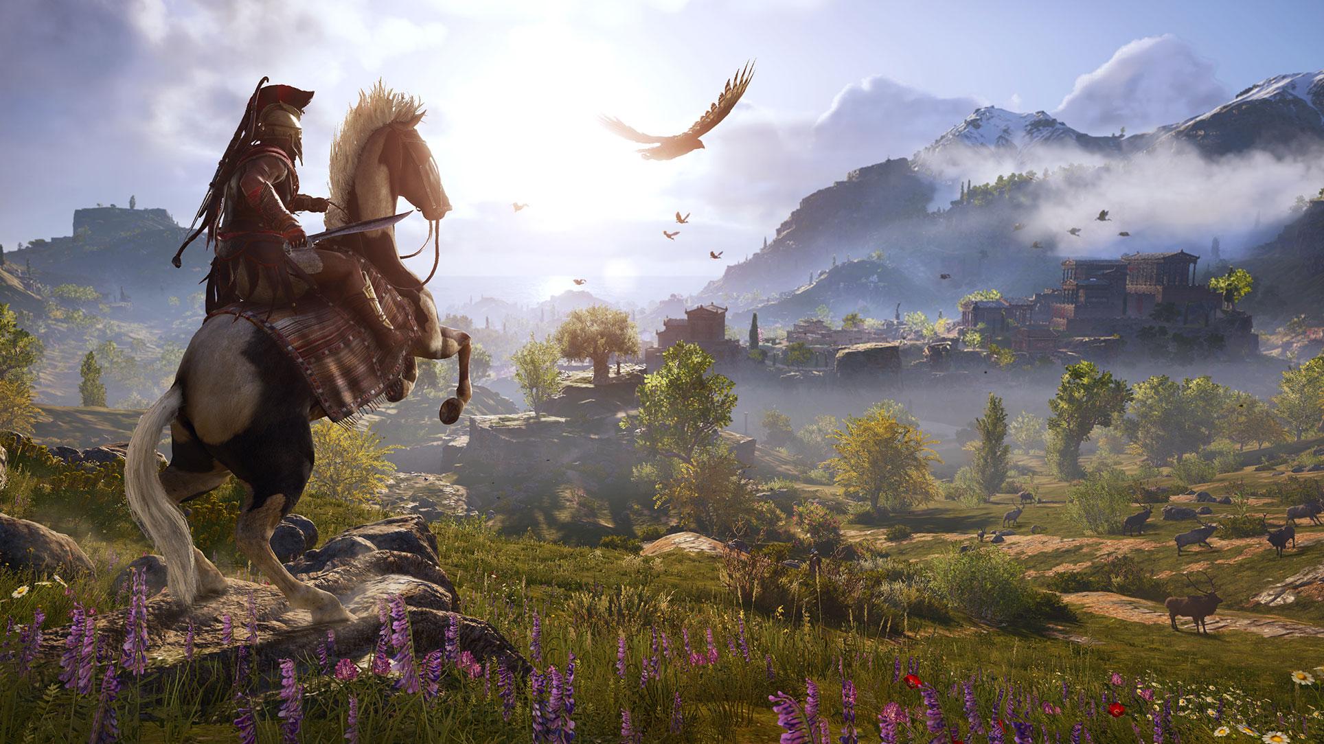 """Höhepunkt der Show: """"Assassin's Creed Odyssey"""" spielt im antiken Griechenland und erscheint Oktober."""