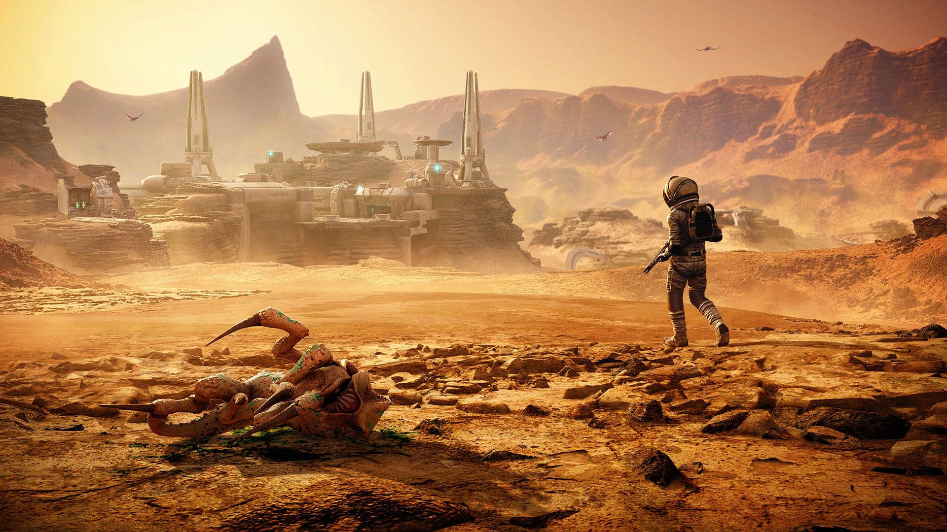 """Die zweite """"FarCry 5""""-Erweiterung beamt Flieger-Ass Nick Rye auf den Mars. Im Hauptspiel gehörte Rye zu den Nebenfiguren und hatte die Aufgabe, dem Spieler Luftunterstützung zu geben."""