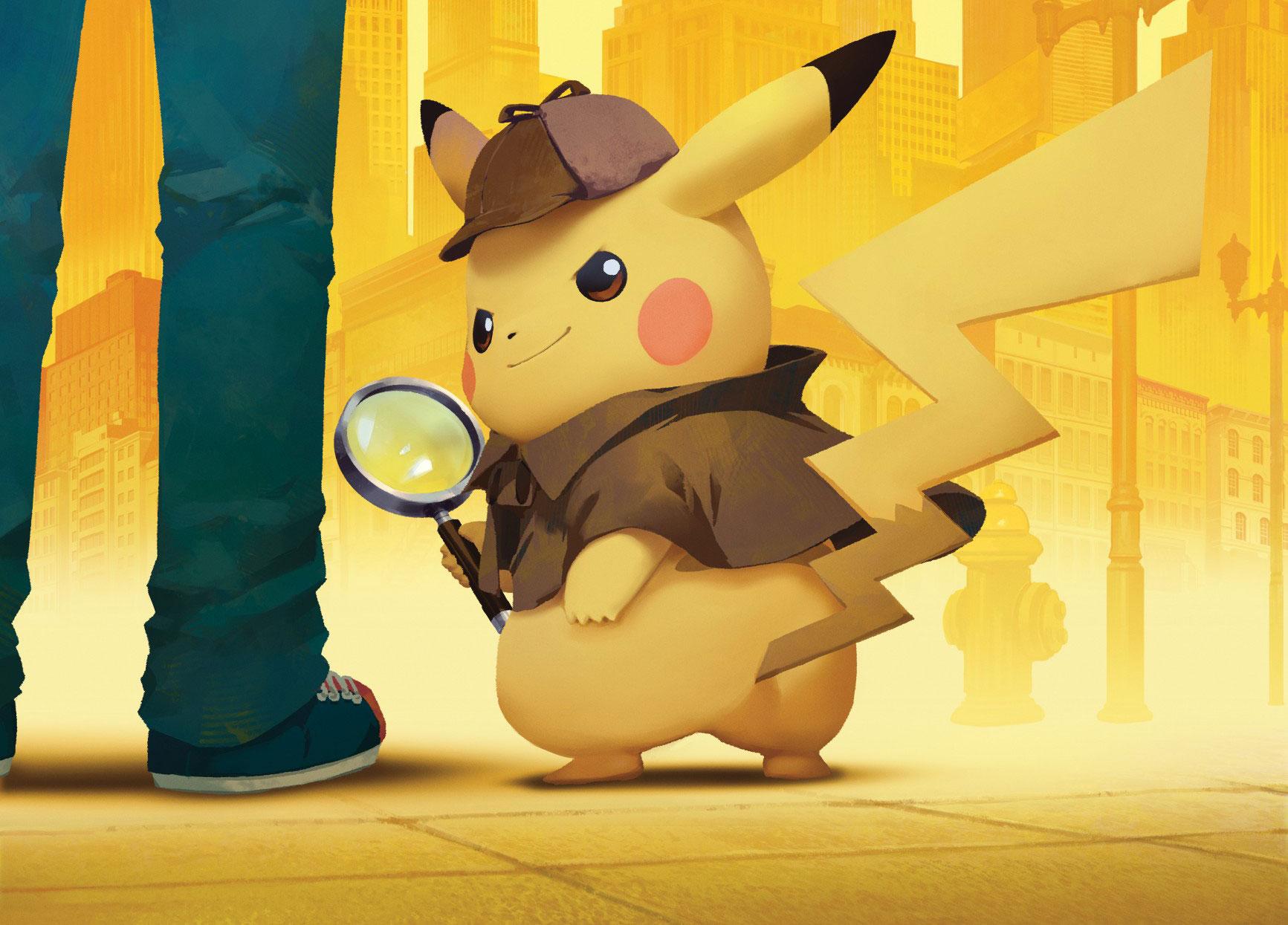 Bald mit eigenem Riesen-amiibo: Meisterdetektiv Pikachu.