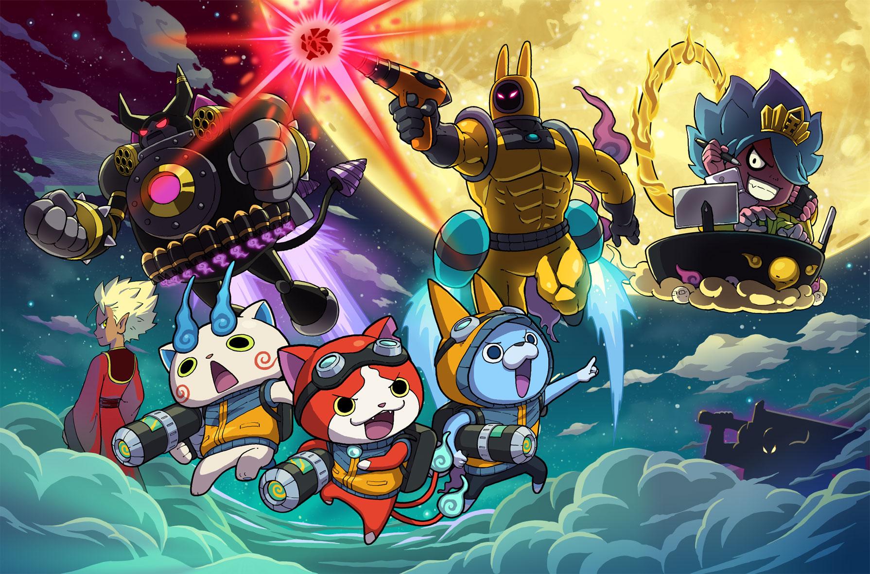 """Schwenkt weiterhin tapfer die 3DS-Flagge: die """"Yo-Kai Watch""""-Serie mit ihrem neuesten und besonders Action-geladenen Ableger """"Blasters""""."""