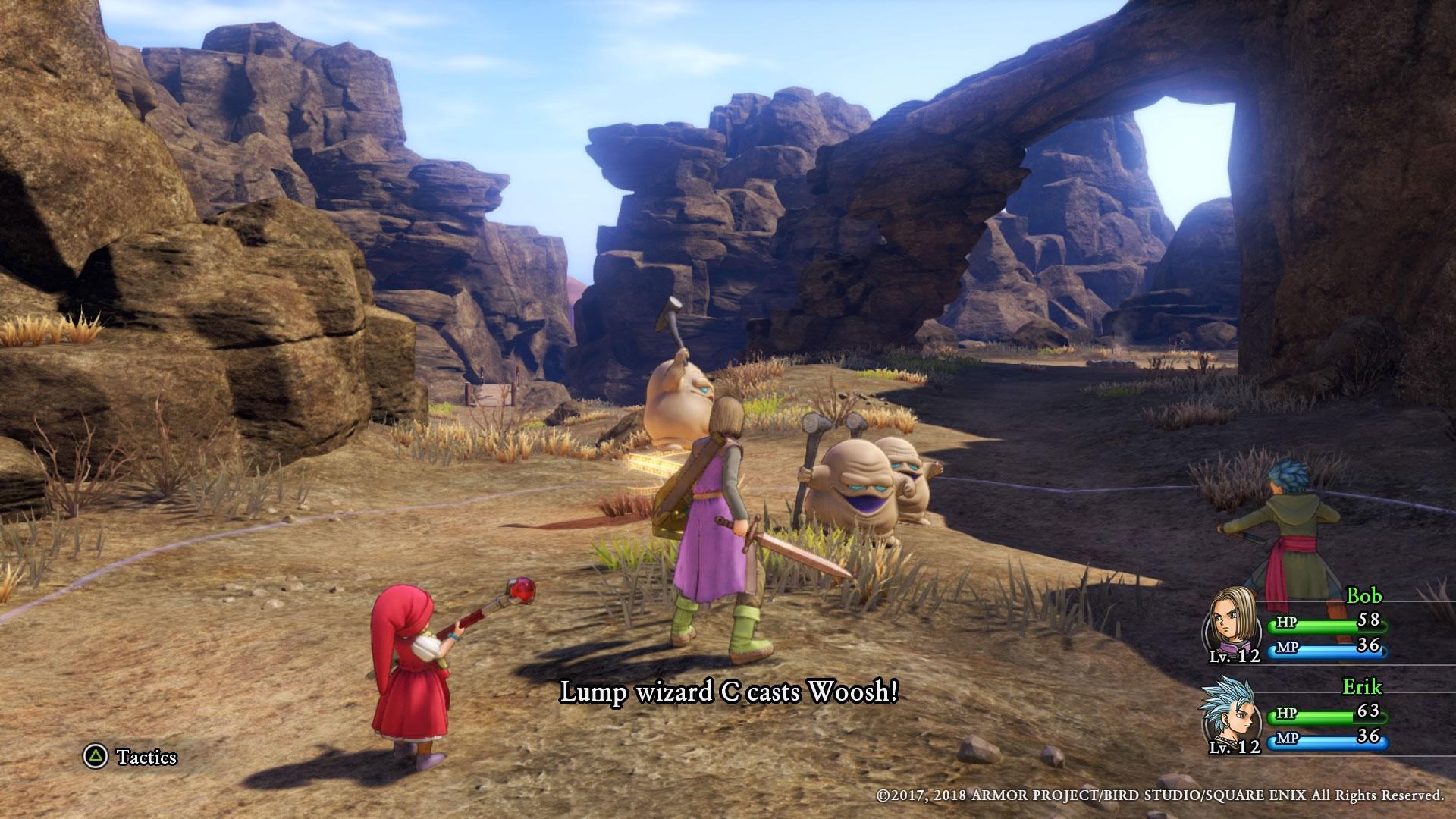 """Bei """"Streiter des Schicksals"""" sieht man die Monster schon vor dem Gefecht durch das Spiel-Terrain wuseln - doch wie Zufallskämpfe fühlen sie sich trotzdem an."""
