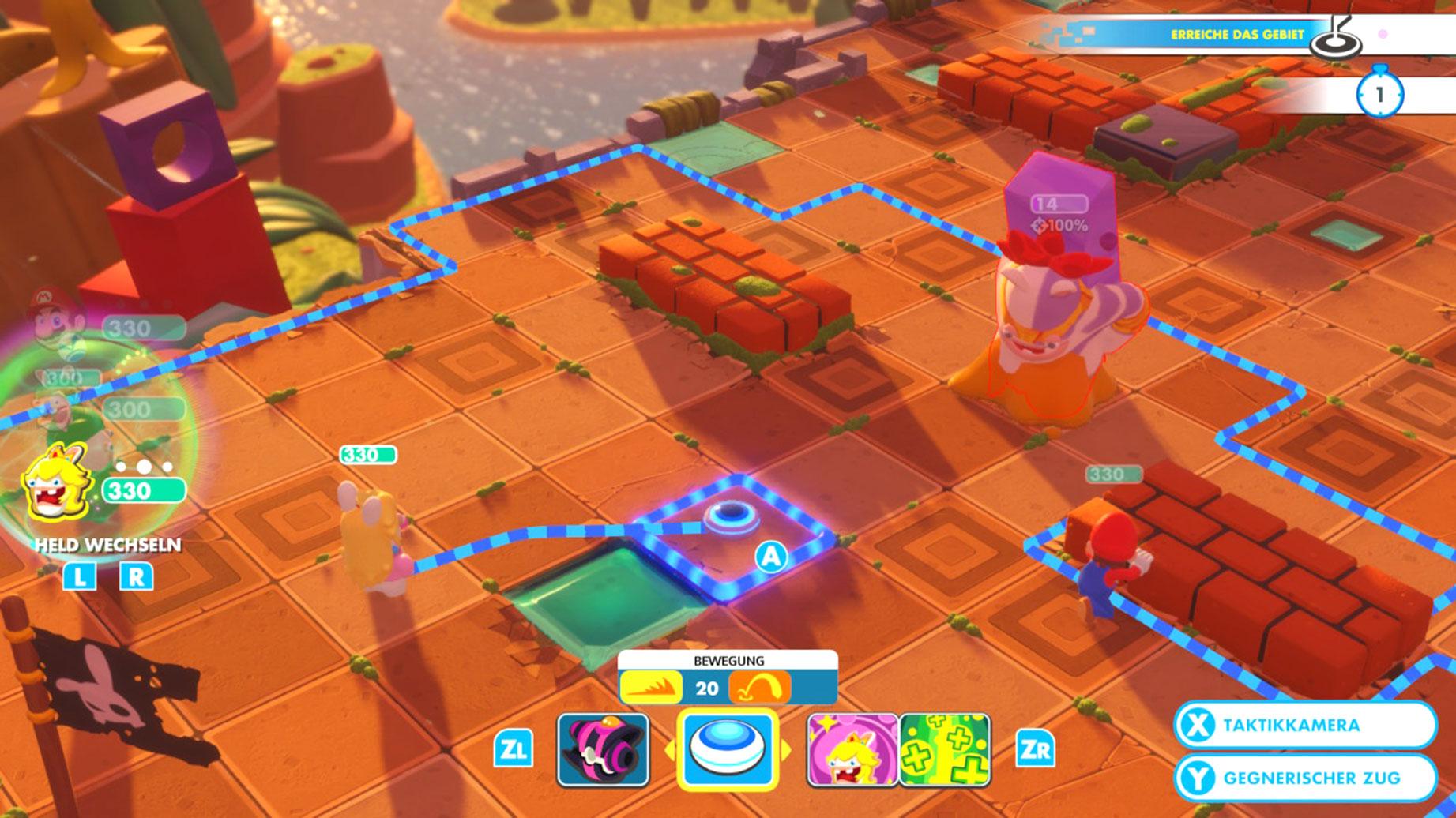 """Und noch ein Switch-Spiel auf den vorderen Plätzen: Ubisofts """"Mario & Rabbids: Kingdom Battle"""" als """"bestes Strategie- und Simulations-Game""""."""