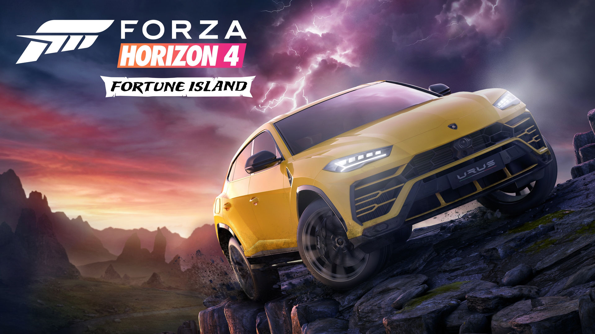 """Führt """"Forza Horizon 4""""-Piloten in unwegiges Terrain: die gerade veröffentlichte Erweiterung """"Fortune Island""""."""