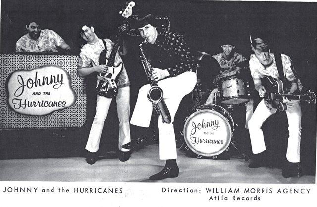 die erst Autogrammkarte von Johnny and the Hurricanes in der origional-Besetzung