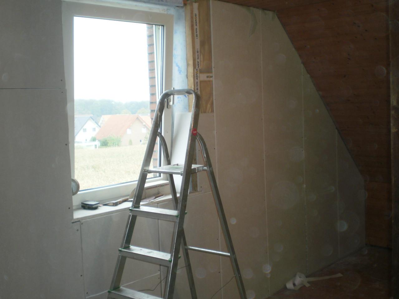 Innendämmung und Treppendurchbruch