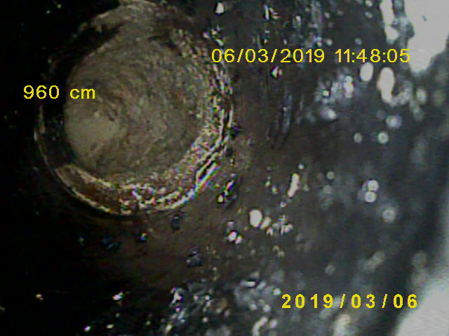 Kanalinspektion mit Colorkamera und Meterzählung