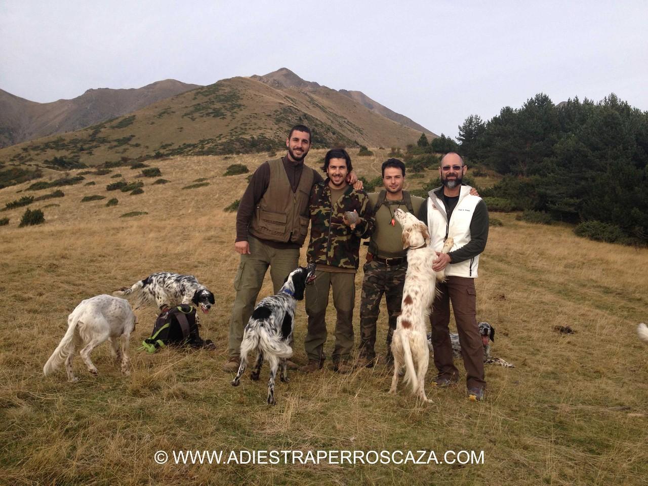 Junto a Álex, Sergio, Juanjo y el camara Jordi