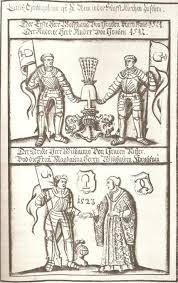 Die Herren von Kornberg: Wolfgang und seine beiden Brüder Andree (gest. 1521) und Wilhelm von Graben (gest. 1523) mit dessen Ehefrau Magdalena, geborene von Stubenberg