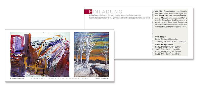 Einladung Kunstausstellung - Manfred Bodenhöfer