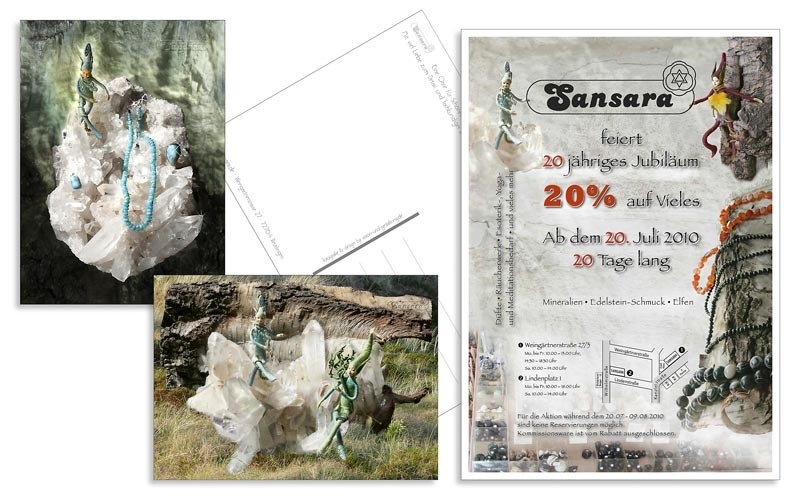 Sansara: Fotografie, Artwork, Postkarten, Aktionsflyer