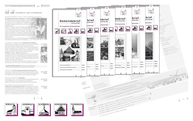Beratung, Entwicklung, Umsetzung: Distriktübergreifender Gemeindebriefe, Signetgestaltung