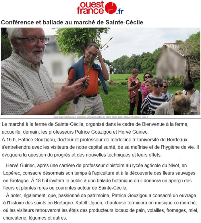 Ouest France 25 juillet 2018