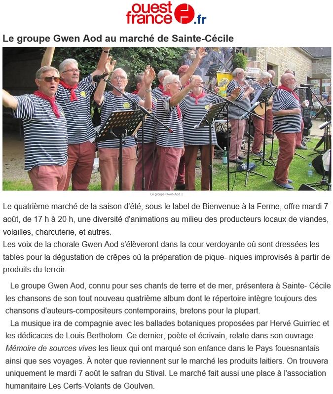 Ouest France 06 août 2018