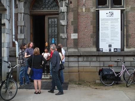 Ingang expo 'One Armed Man' / 't Groen kwartier / kapel en klooster  / Antwerpen- Berchem