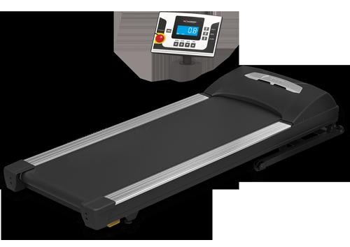 Ein Laufband freigestellt vor weißem Hintergrund, nutzbar für unter einem Schreibtisch von WALKDESK Standezza