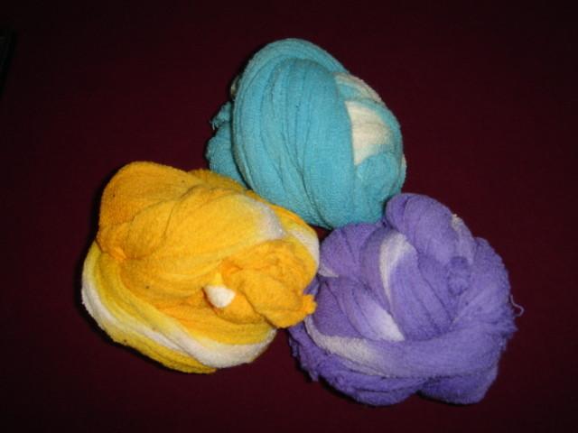 Bufandas de manta de cielo teñidas
