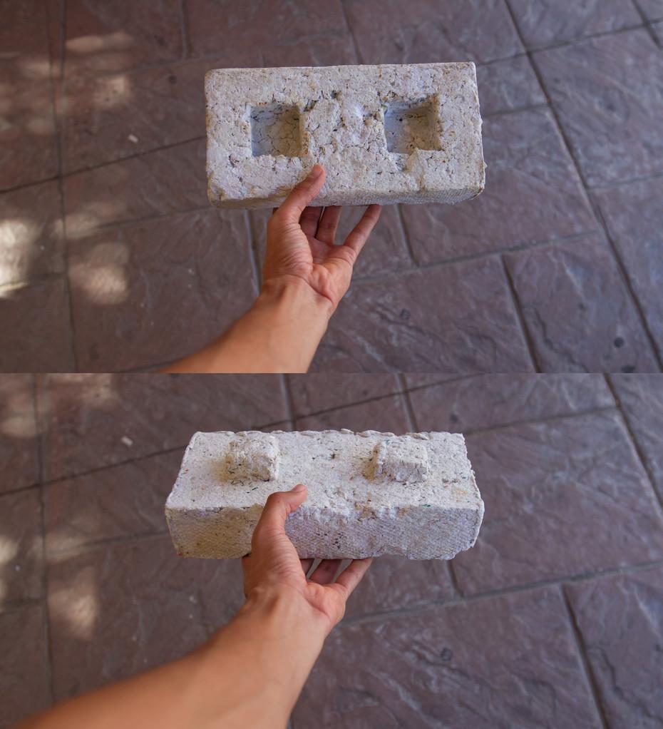 Block de Papel Reciclado en Forma de Lego. Para Muros interiores o Muebles.