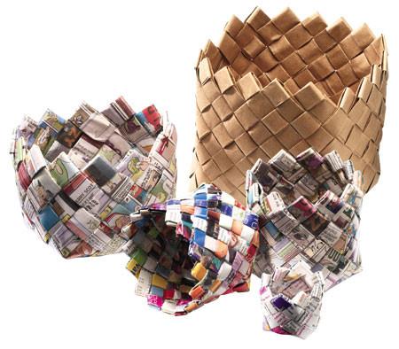 Canastas y cestos de papel